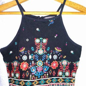 Kendall & Kylie Top Women BOHO Crop Tank Medium